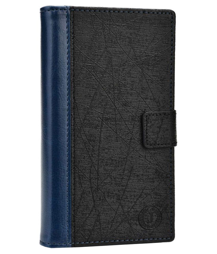 Jo Jo Synthetic Flip Cover For HTC Desire 709d Dark - Blue