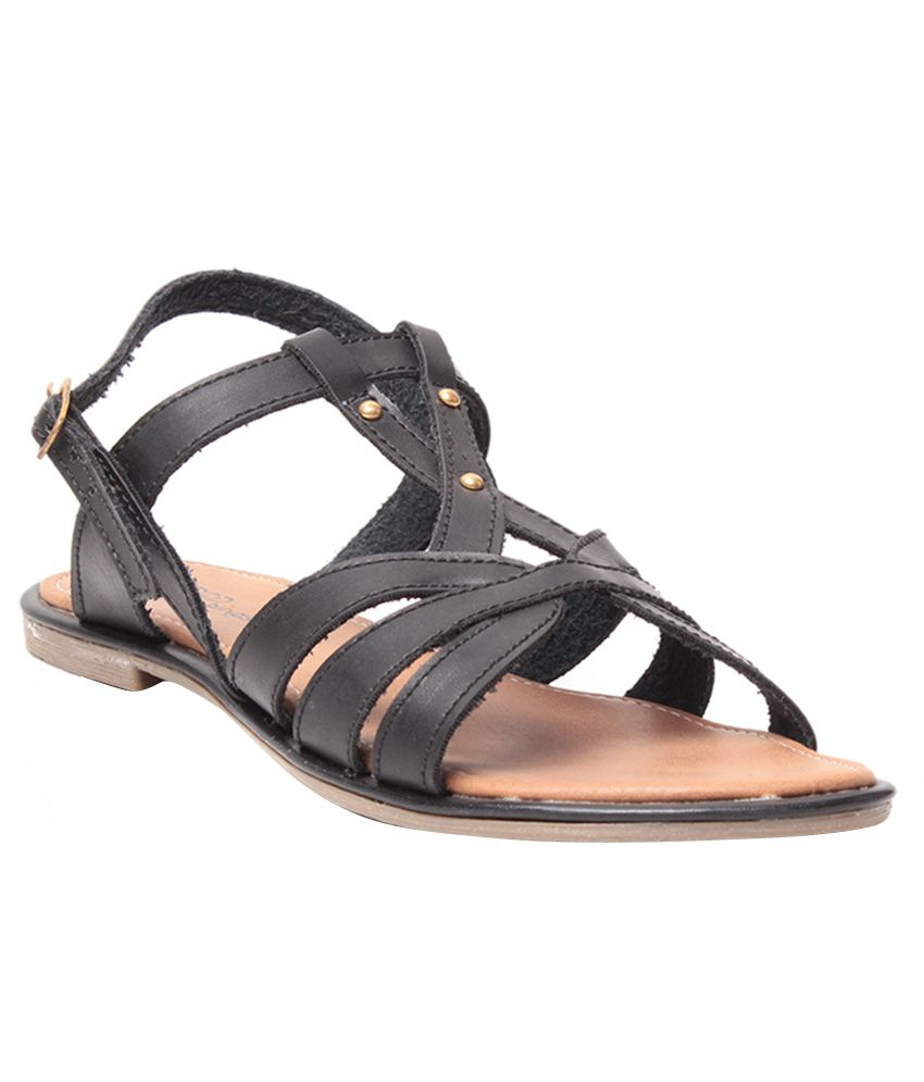 Steppings Black Sandals