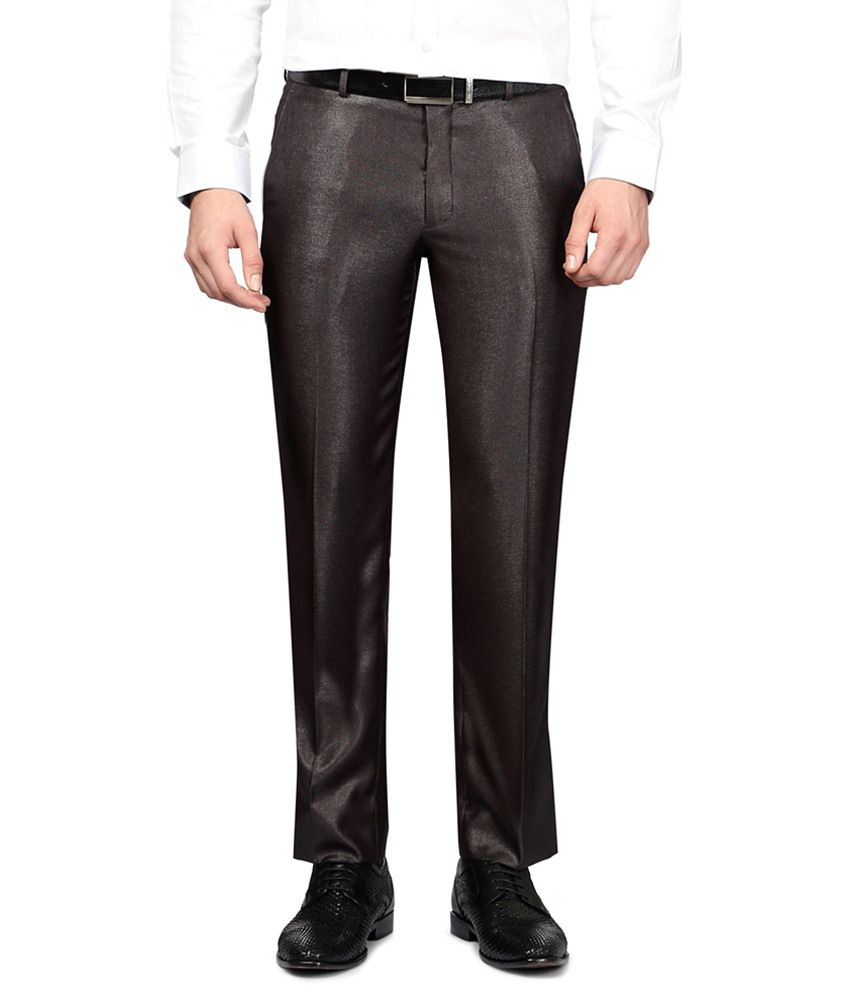 University of Oxford Brown Slim Fit Formal Trousers