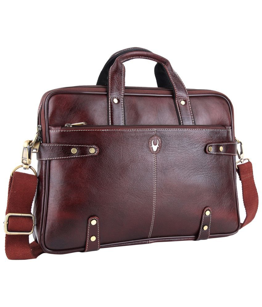 WildHorn Brown Leather Messenger Bag - Buy WildHorn Brown Leather ...