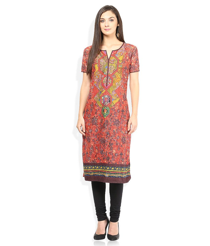 0ff1cf1cc1 BIBA Red Kurti - Buy BIBA Red Kurti Online at Best Prices in India on  Snapdeal