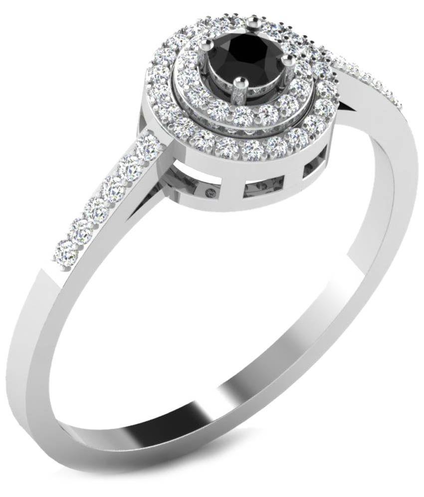 Fullcutdiamond 18 Kt White Gold & 0.26 Ct Diamond Contemporary Ring for Women