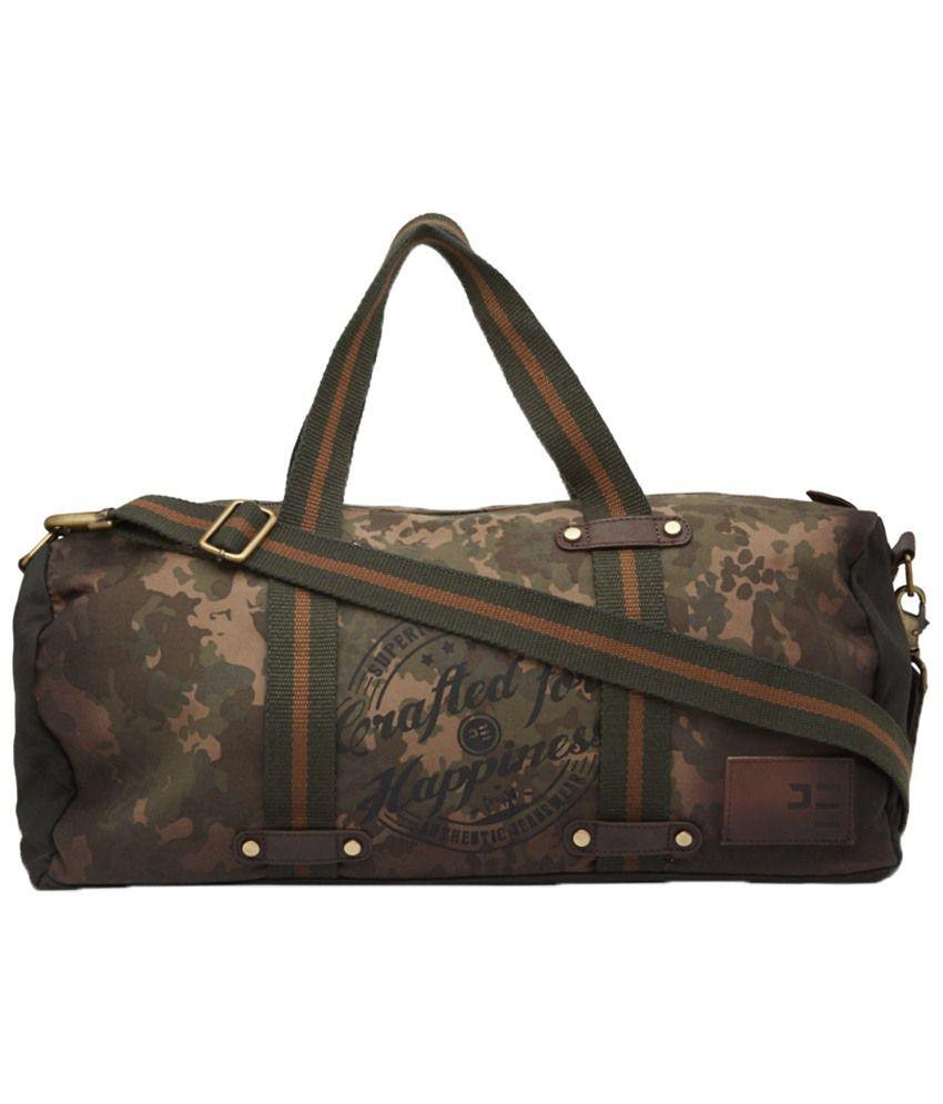Peter England Khaki   Brown Camouflage Duffle Bag for Men - Buy Peter  England Khaki   Brown Camouflage Duffle Bag for Men Online at Low Price -  Snapdeal 87b1f314892e3
