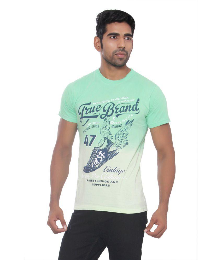 Pezzava Green Cotton Blend T-shirt