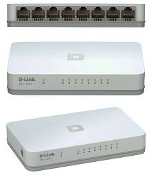 D-link Des-1008a 8-port 10/100 Mbps Desktop Switch-white