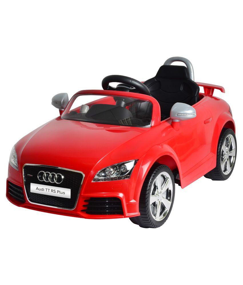 mera toy shop plastic audi tt rs plus electric motor car red