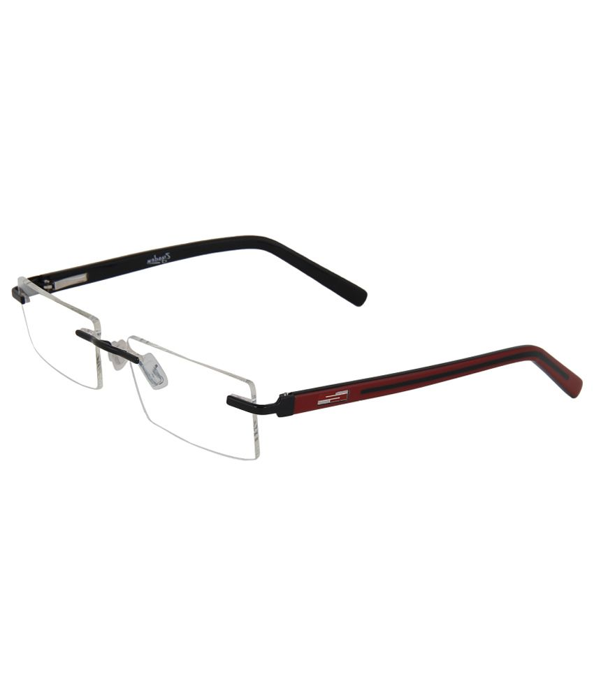 4369ec51a63 Zyaden Men Rectangle Rimless Frame Eyeglasses - Buy Zyaden Men Rectangle  Rimless Frame Eyeglasses Online at Low Price - Snapdeal