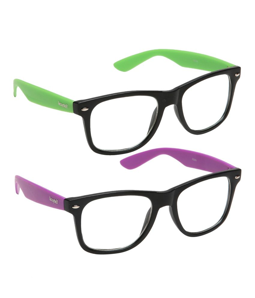 Eyeglasses Frames Purple : Estycal Purple Wayfarer Full Rim Frame Eyeglasses - Buy ...