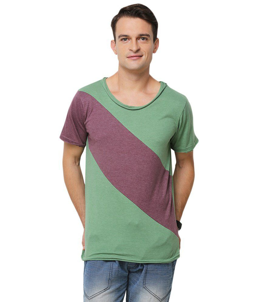Yepme Blue & Red Stine Round Neck T Shirt