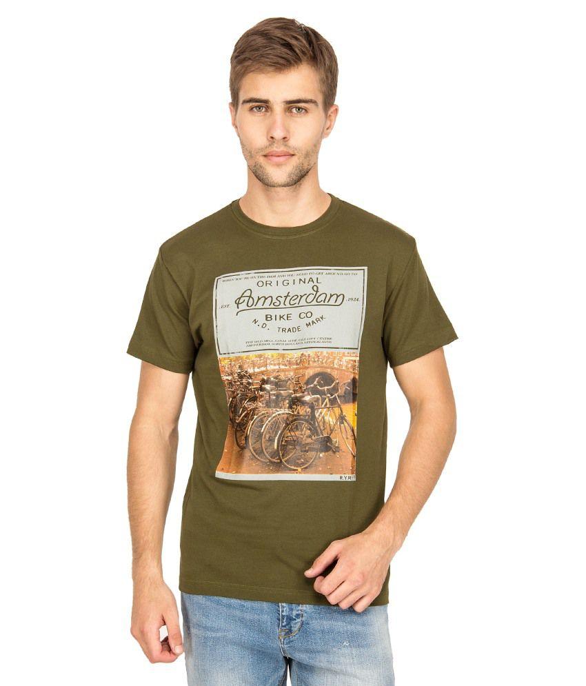 Blue Saint Green Cotton T-shirt