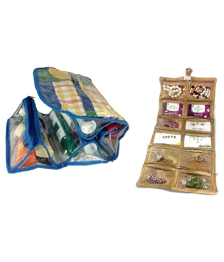 E Trade Multicolor Combo of Travelling Kit Box and Bindi Holder Pouch
