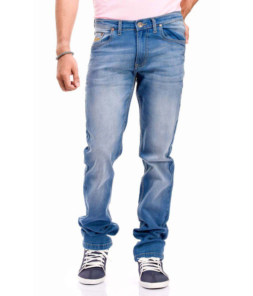 Gr8onyou Men's Slim Fit Zip Fly Denim Jeans