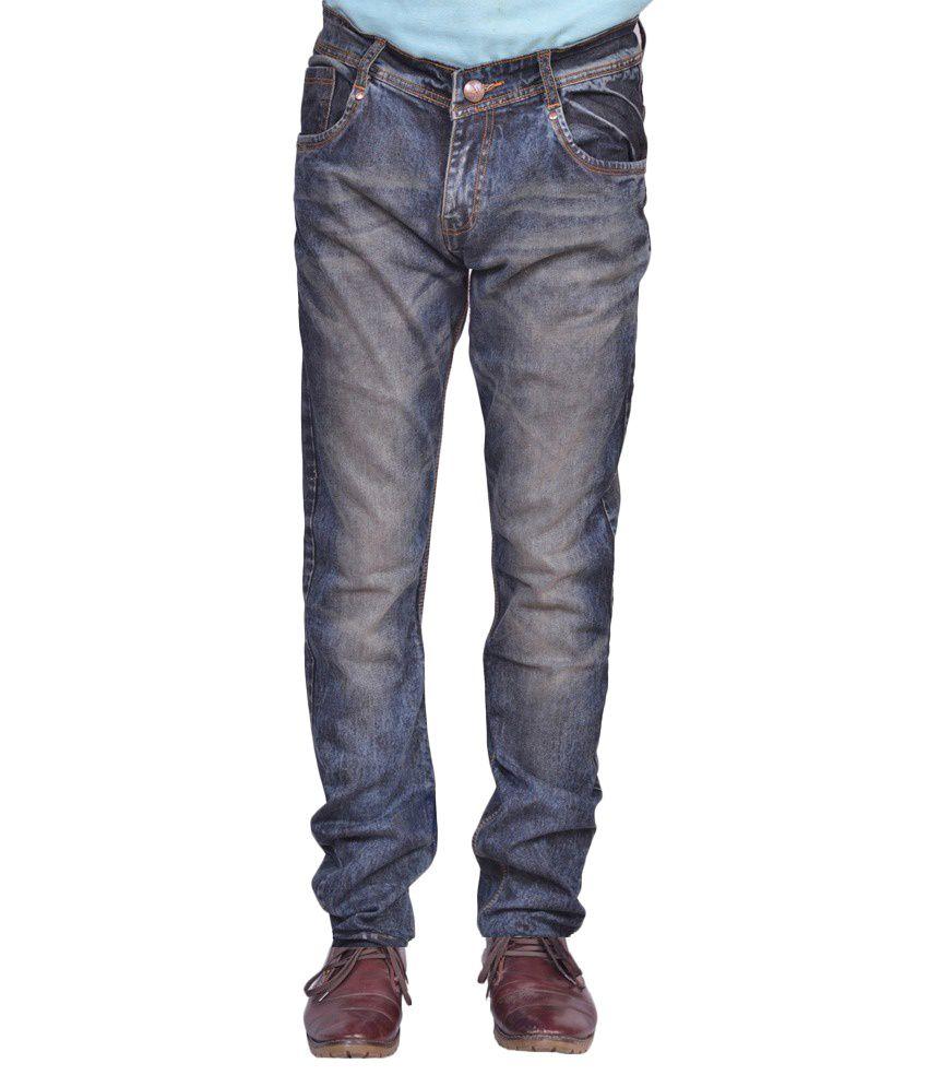 Ignitii Blue Cotton Blend Jeans