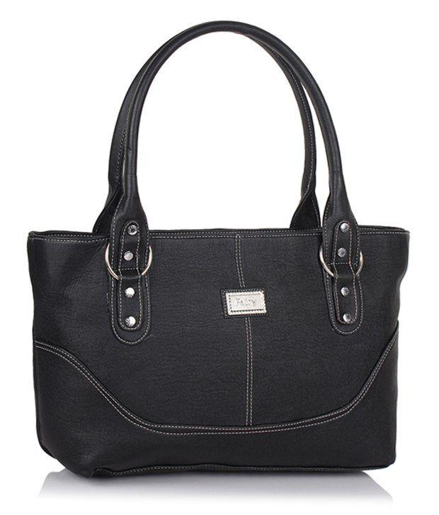jewel fuel Black Faux Leather Shoulder Bag