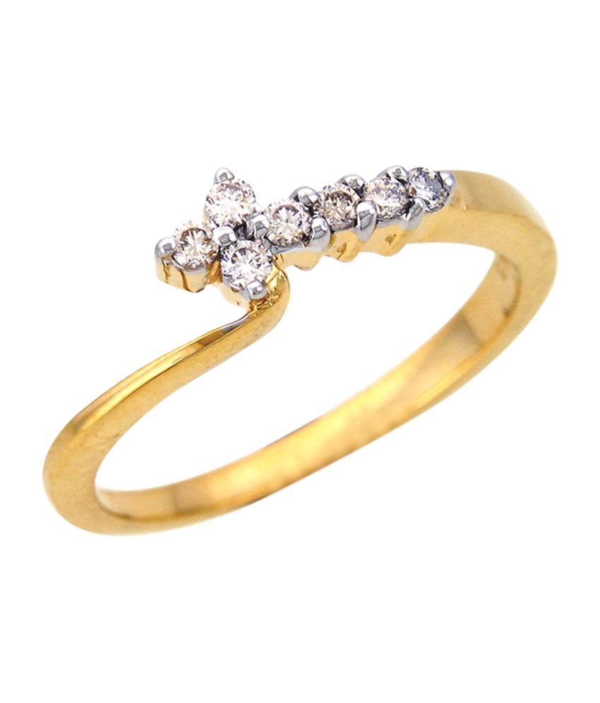 Sparkles 18kt Gold Ring with Real Diamonds