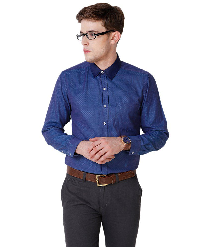 4d2c4f96cdf Yepme Blue Hanfred Printed Party Wear Shirt for Men - Buy Yepme Blue  Hanfred Printed Party Wear Shirt for Men Online at Best Prices in India on  Snapdeal