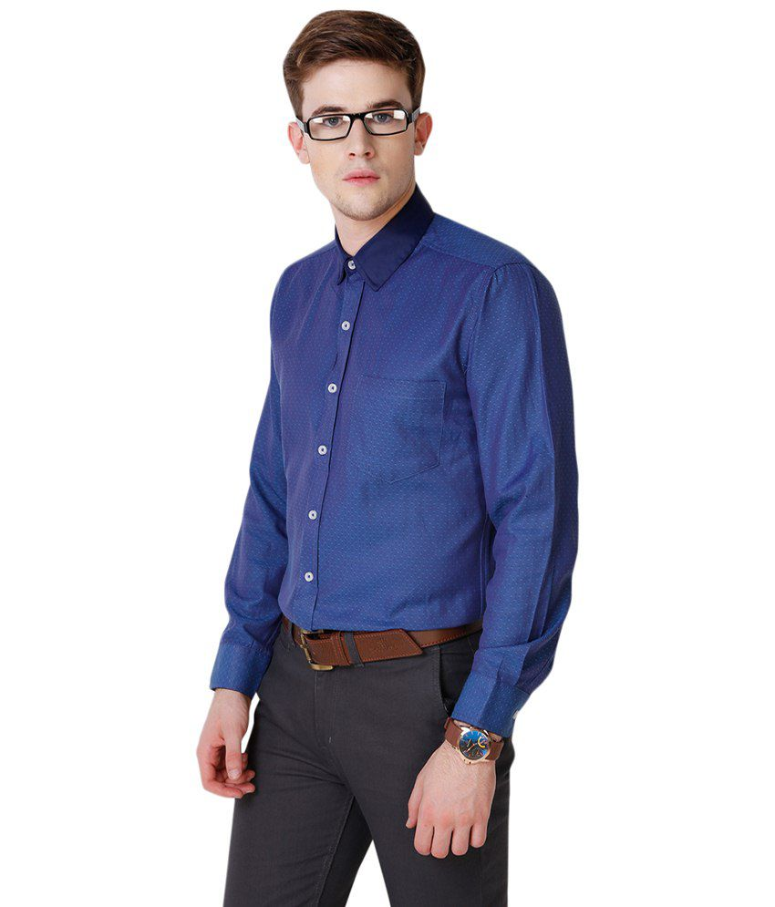312f65ea583 Yepme Blue Hanfred Printed Party Wear Shirt for Men - Buy Yepme Blue ...