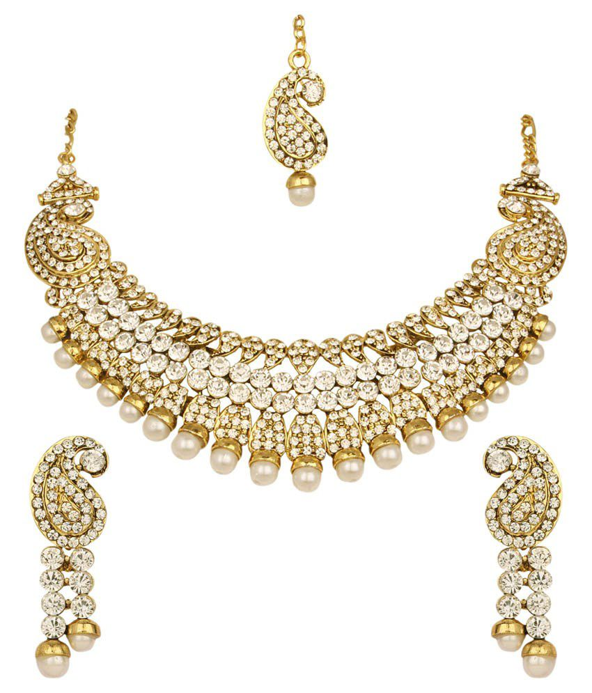 Atasi International Golden Necklace Set