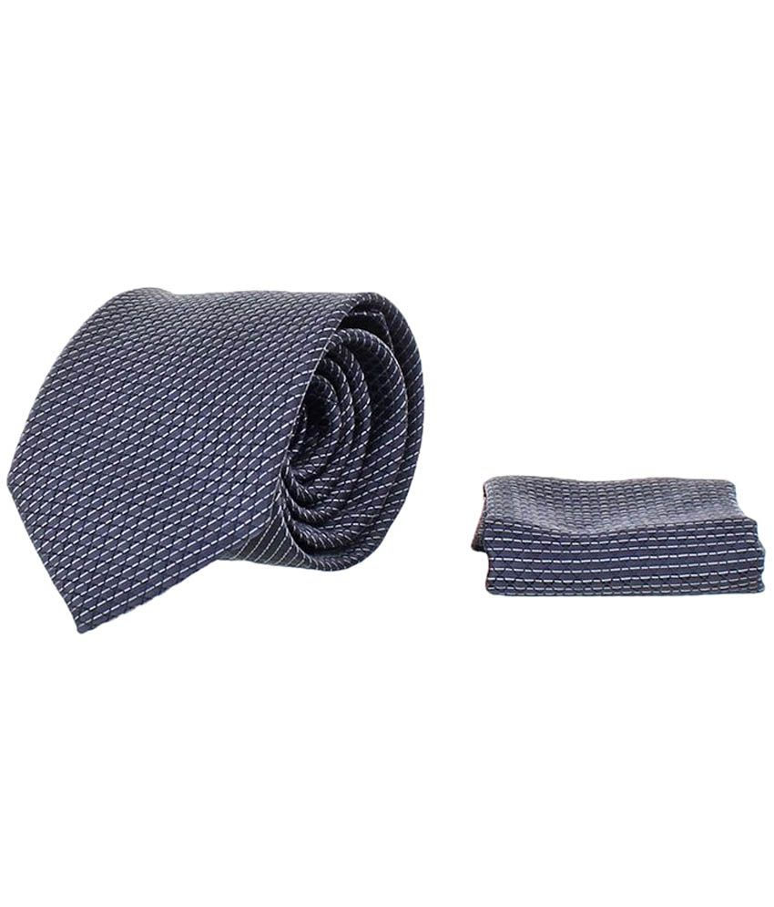 Corpwed Blue Micro Fiber Broad Tie