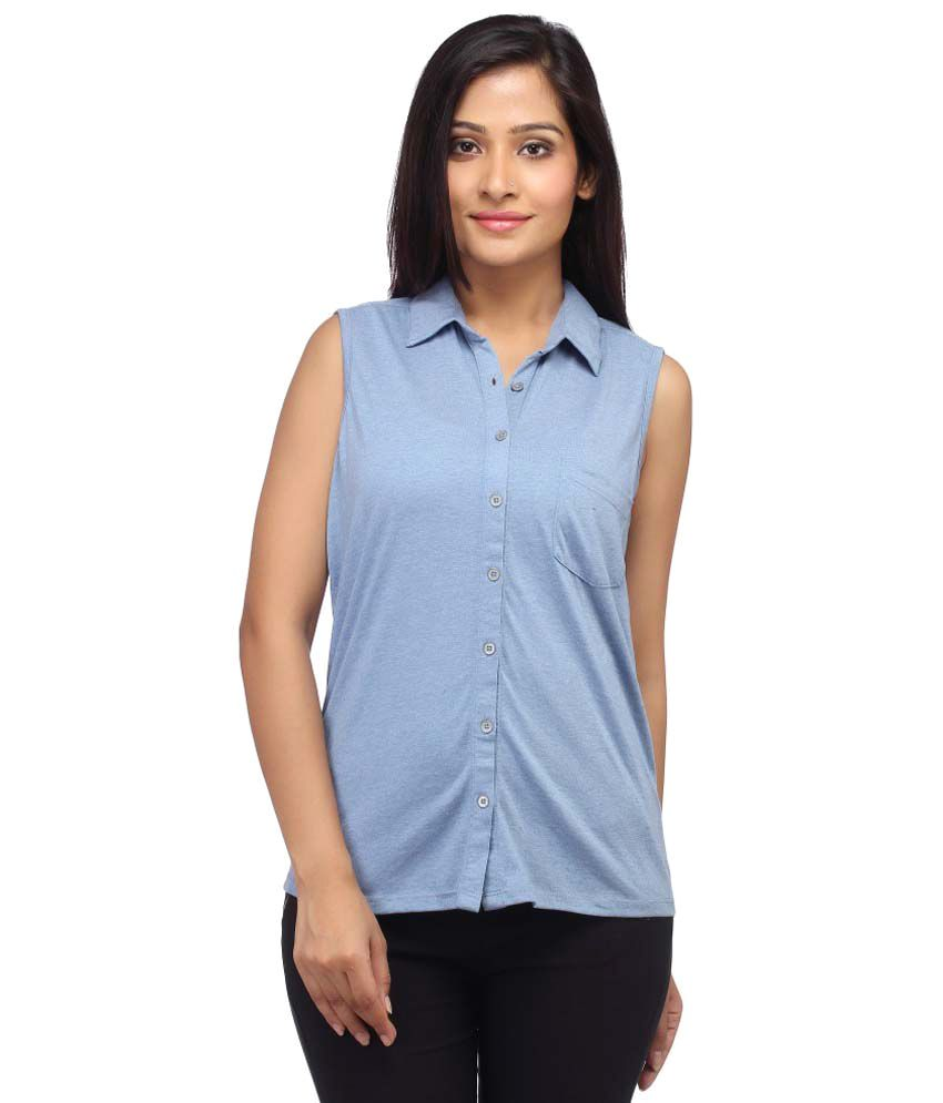 Buy Entease Blue Cotton Shirts Online At Best Prices In