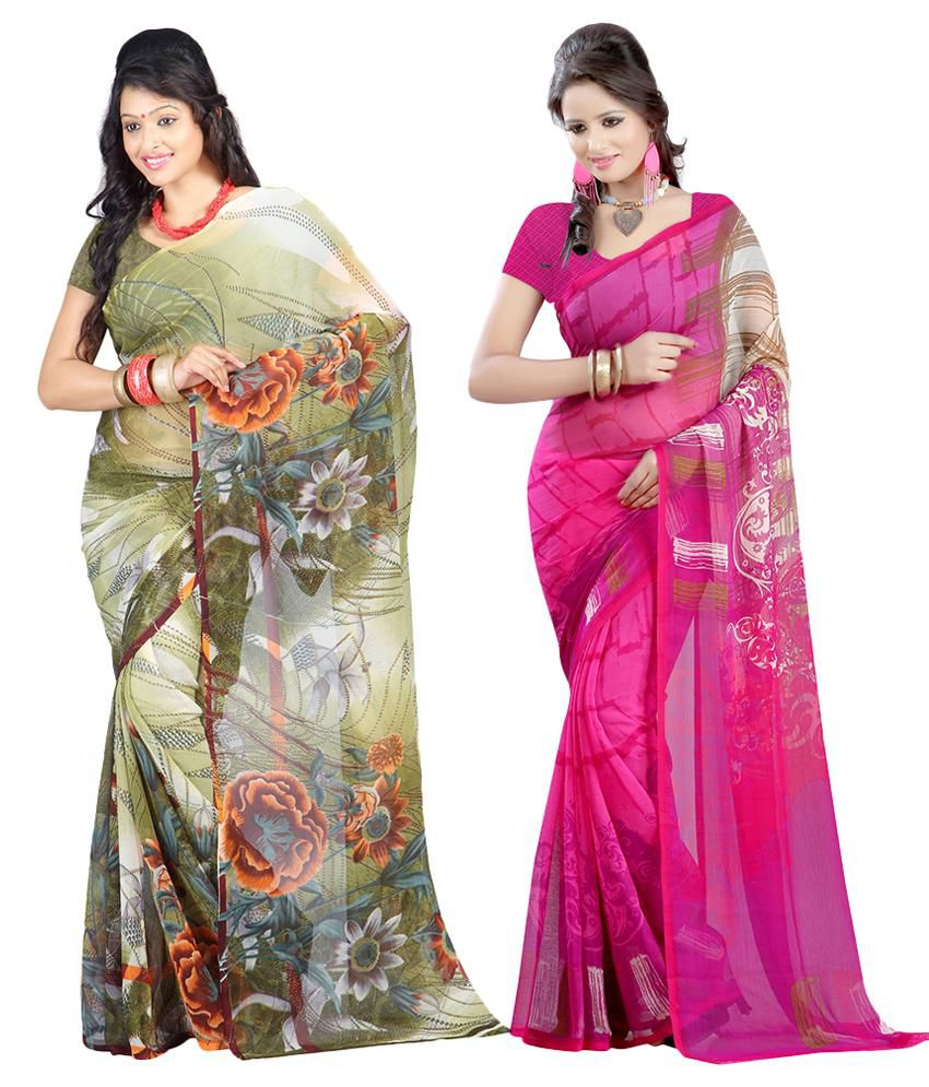 Lookslady Pack of 2 Sarees