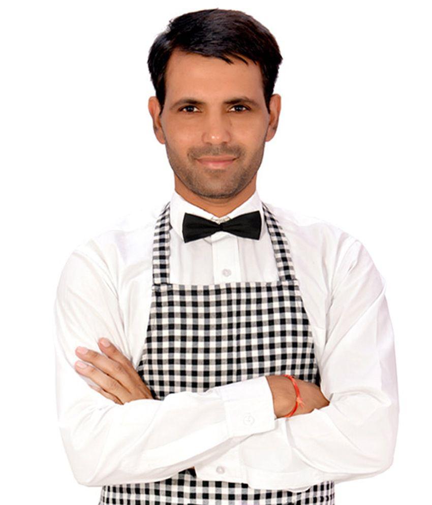 Buy white apron online -  Switchon Single Cotton Apron