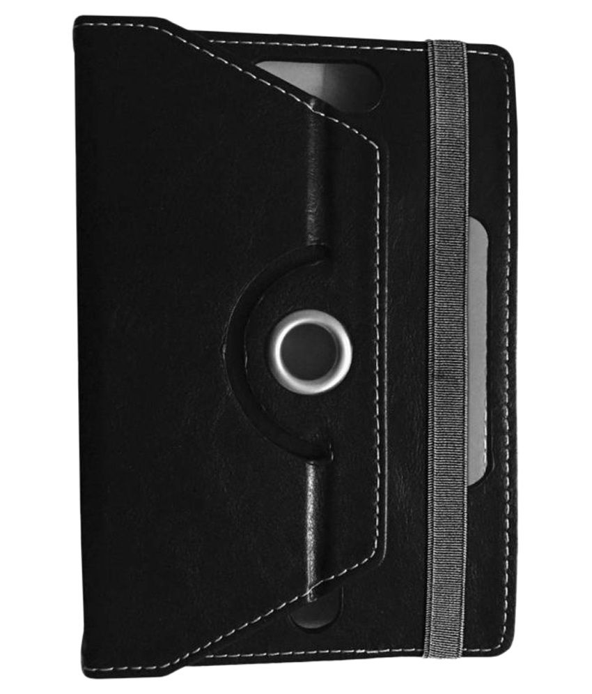 Kolorfame Flip Cover For Iball Slide Q40black - Black