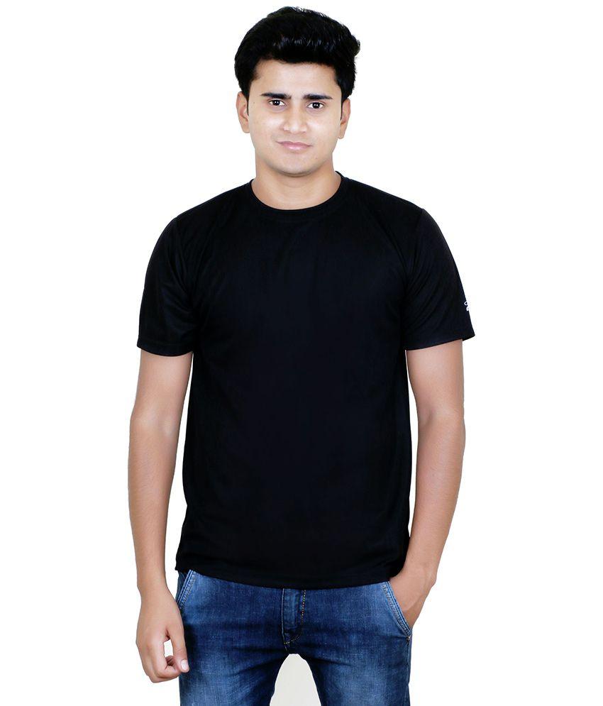 Aqa Black Polyester T Shirt