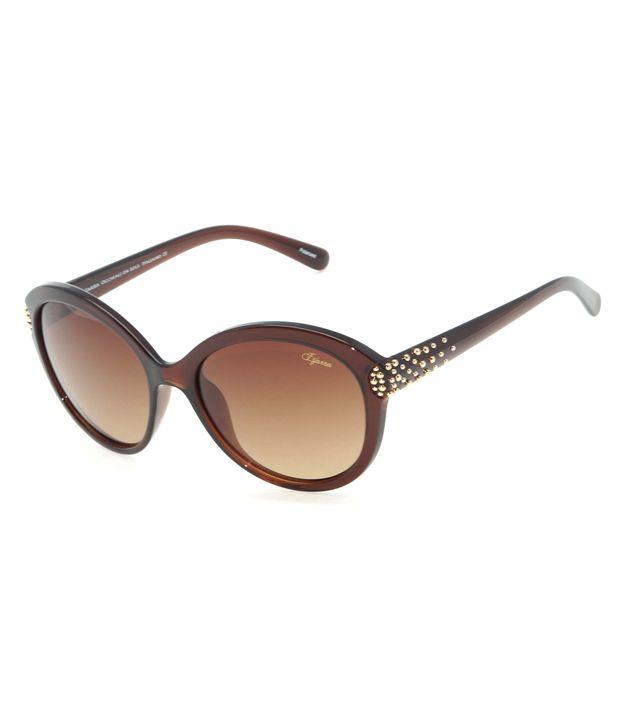 Izarra Brown Lens Oval Sunglasses
