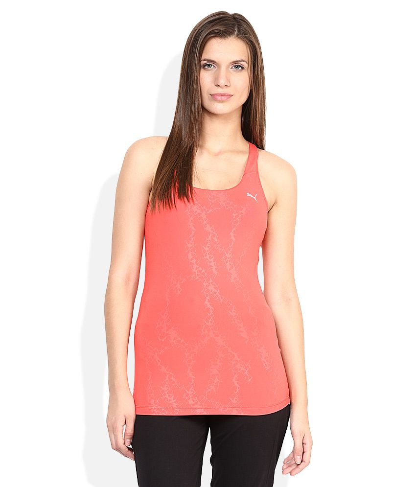 Puma PeachPuff Round Neck Top