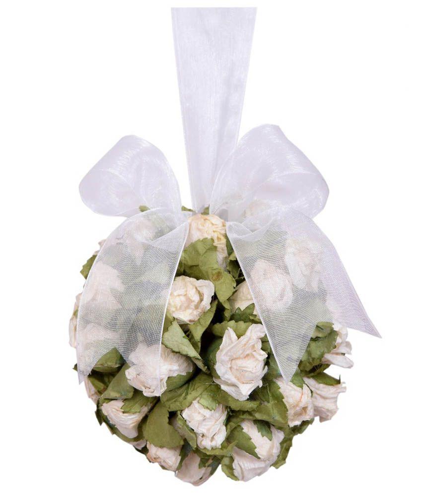 Ramesh Flowers White Dried Flower With Hanger Buy Ramesh Flowers