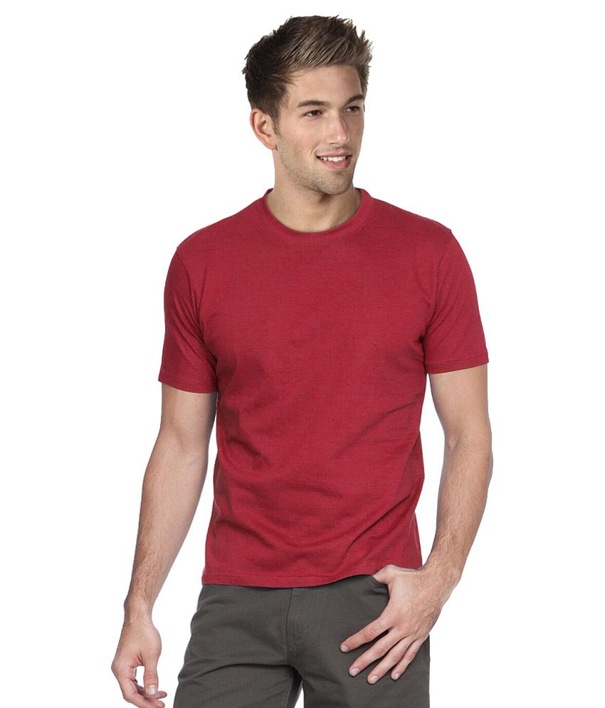 Marsh Maroon Cotton T-shirt