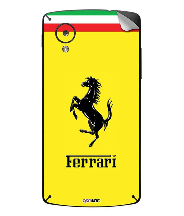 Gsmkart Yellow Ferrari Skin For Lg Google Nexus 5