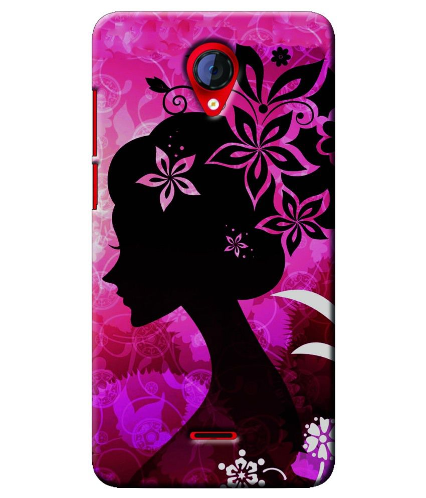 new products 55433 6b03b Saledart Back Cover For Micromax A106 Unite 2 - Pink - Printed Back ...