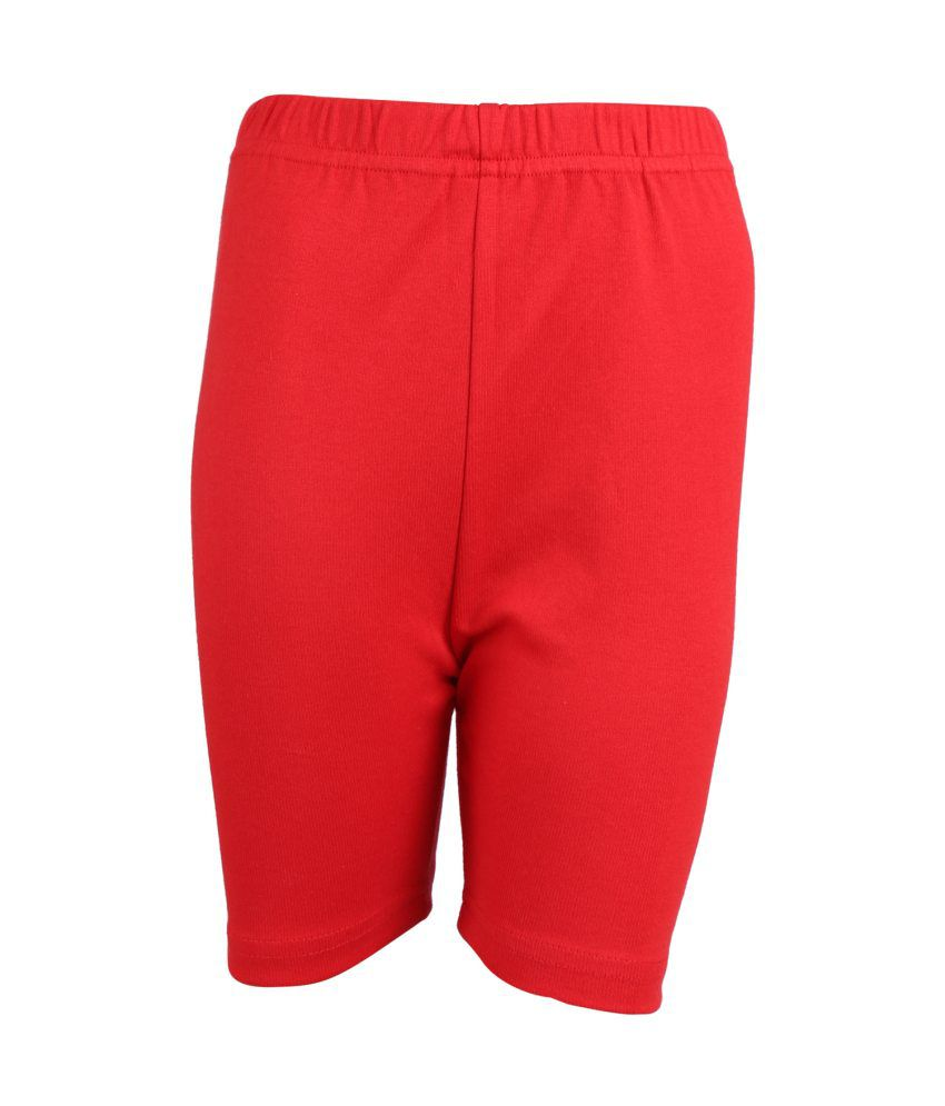 Gold Eagle Red Shorts For Girls