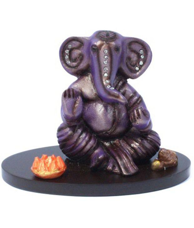 Shree Na Blue Resin Ganesha Idol