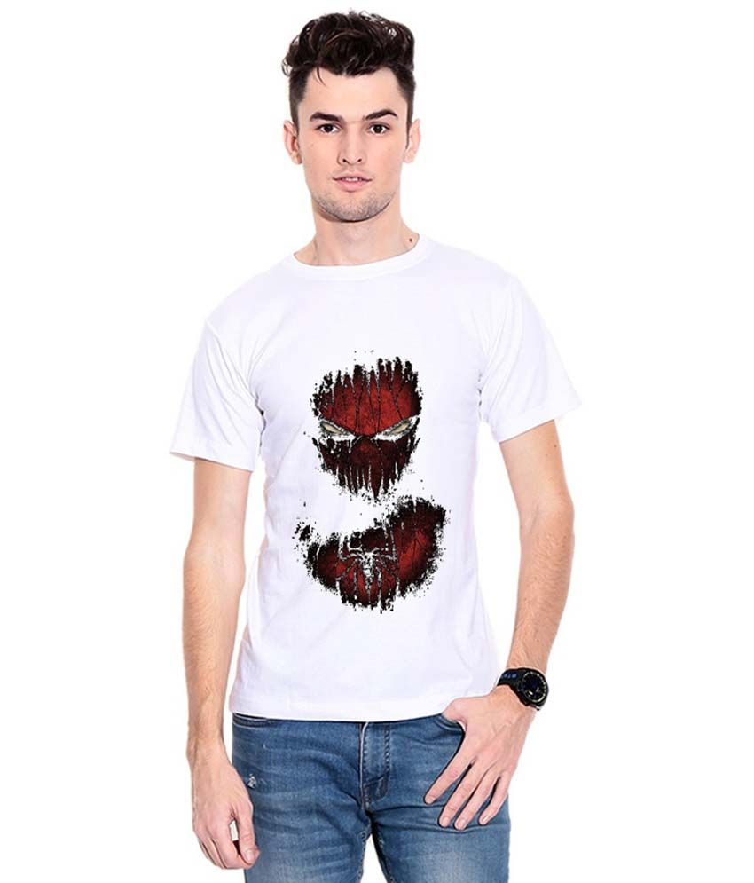 V Prints White Cotton T-shirt