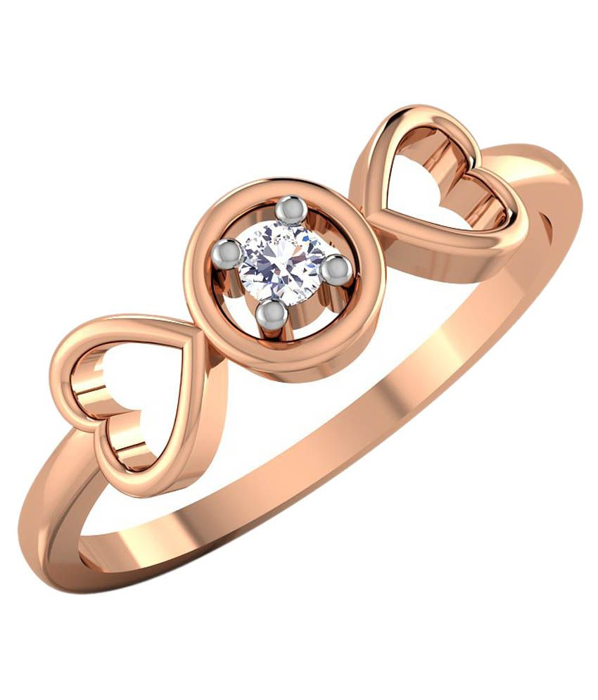 CaratStyle Rose Gold 18Kt Diamond Ring