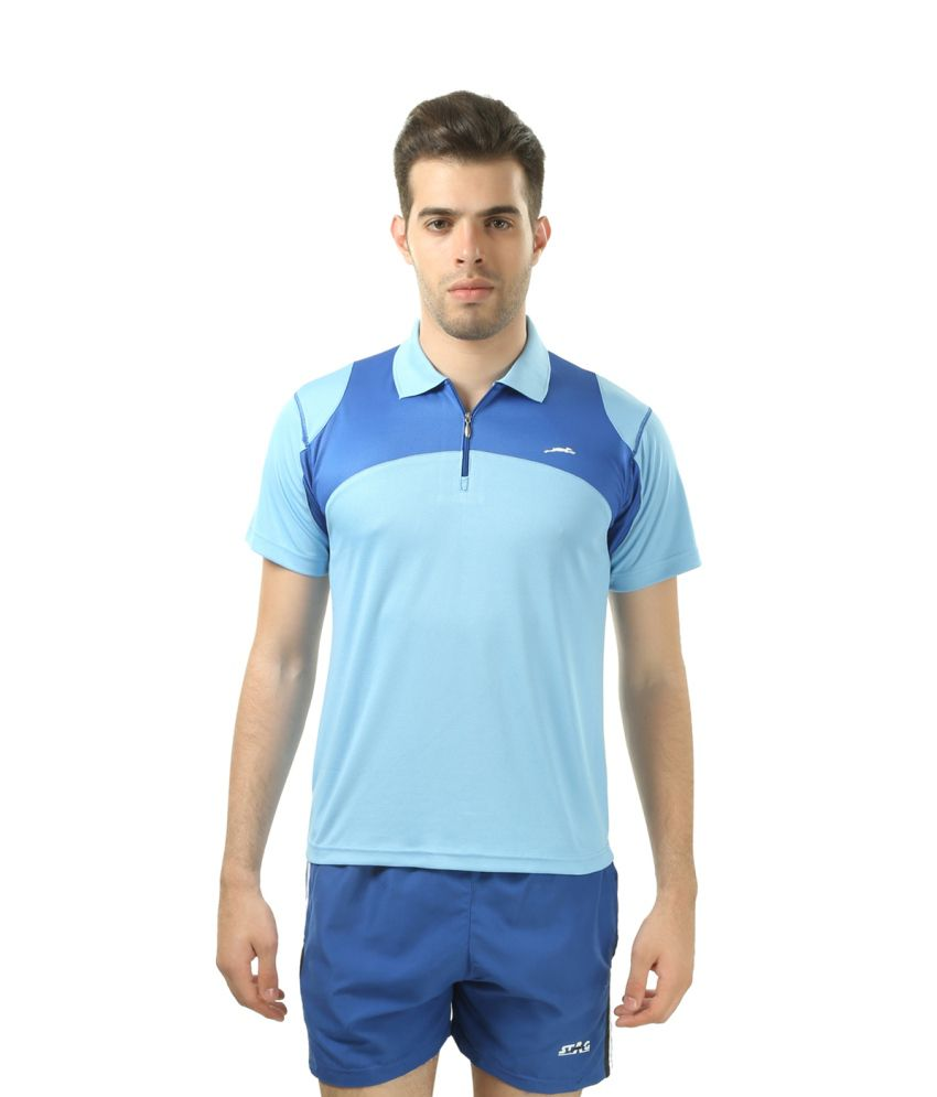 Stag Blue Polyester T-shirt