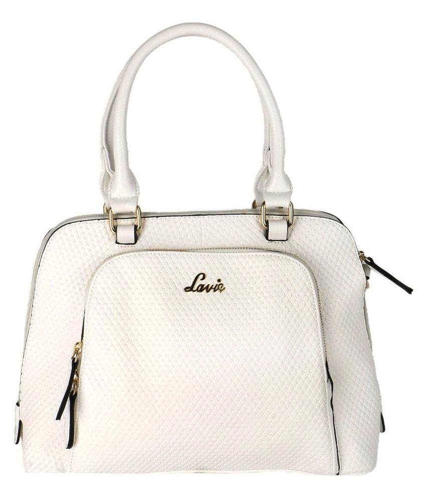 Lavie White P.U. Satchel Handbag