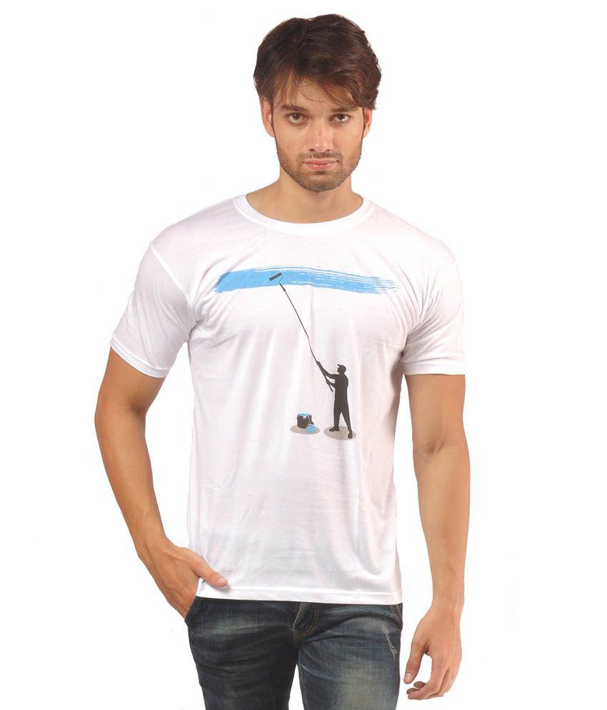 Helix White Cotton T-Shirt