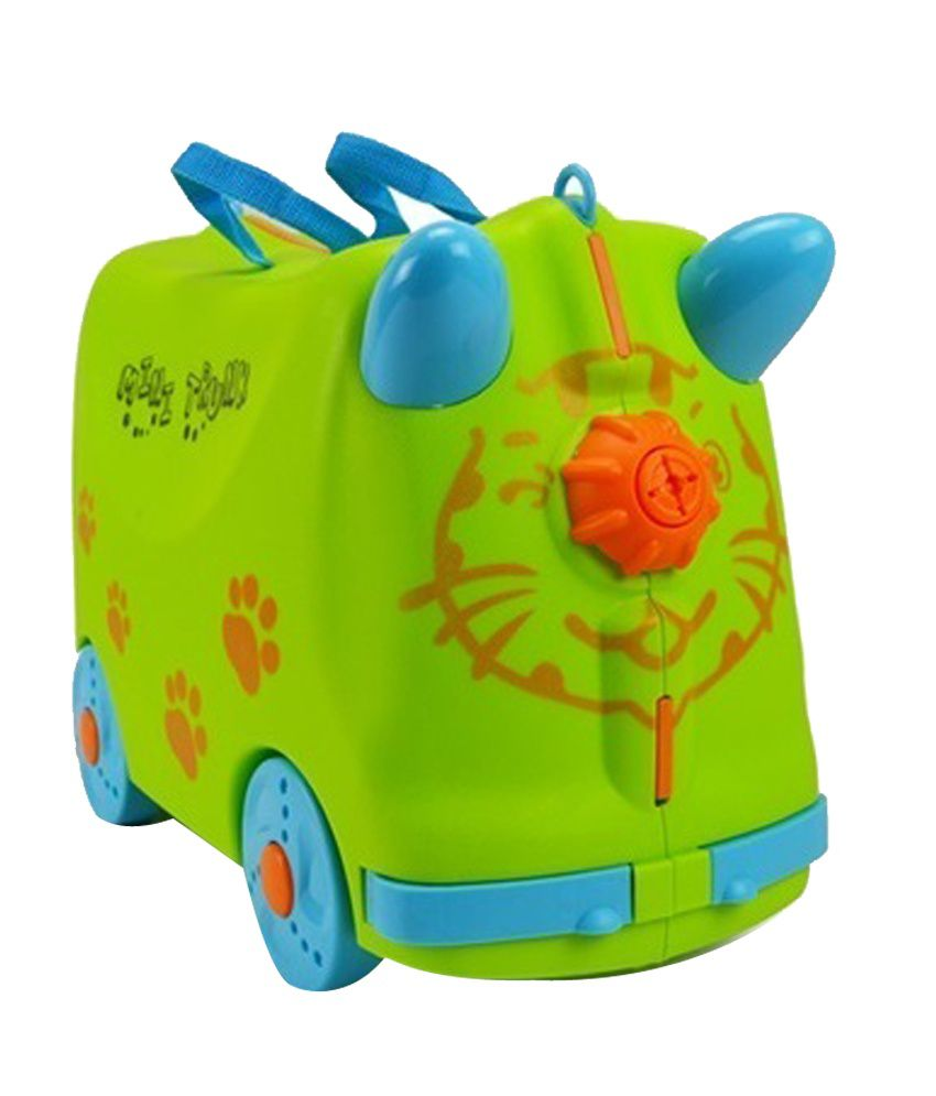 Innovation Green & Blue ABS Plastic Kids Ride-On & Roll-On Bag