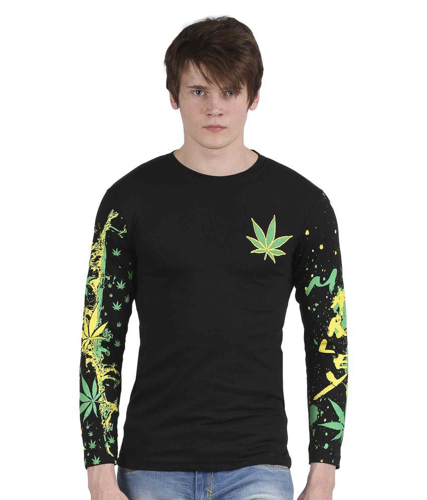 Tease Denim Black Cotton T-shirt