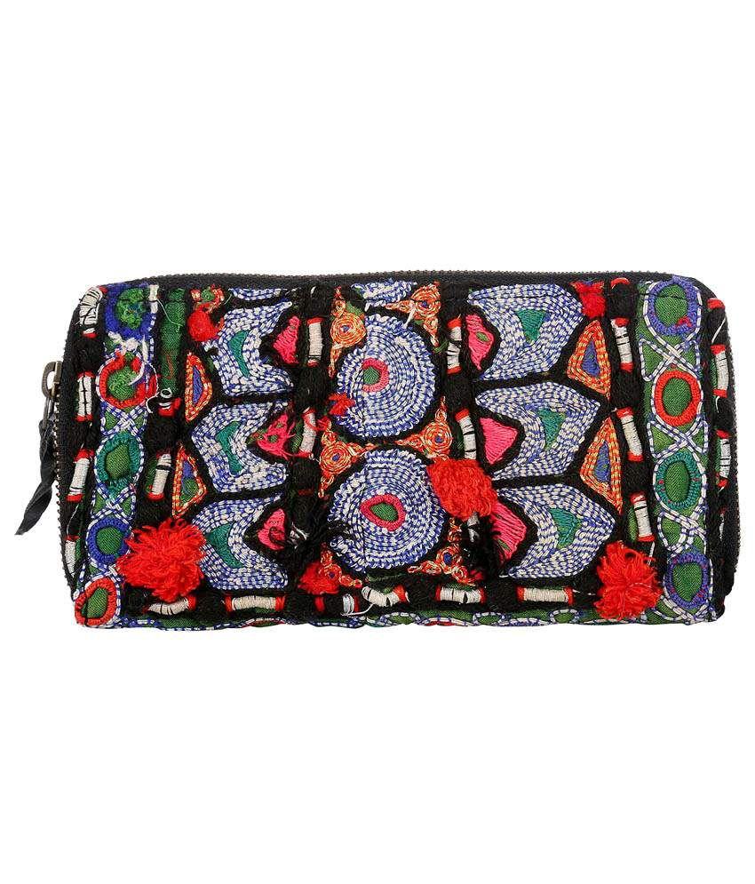 Rajrang Multicolor Cotton Clutch Bag