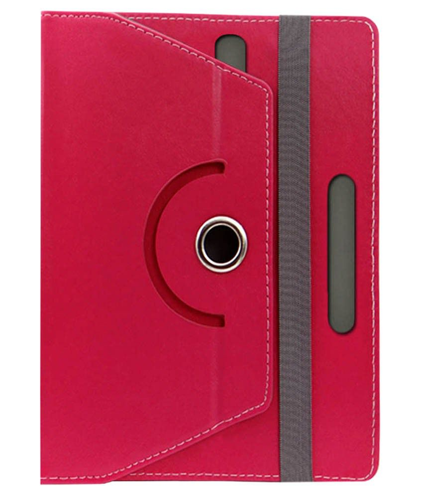 SNE Leather Flip Cover For Asus Google Nexus 7 2013-Pink