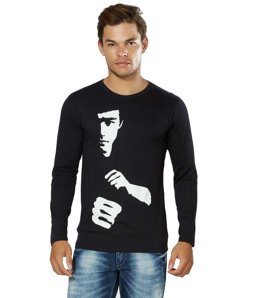 Alan Jones Black 100 Percent Cotton T Shirt