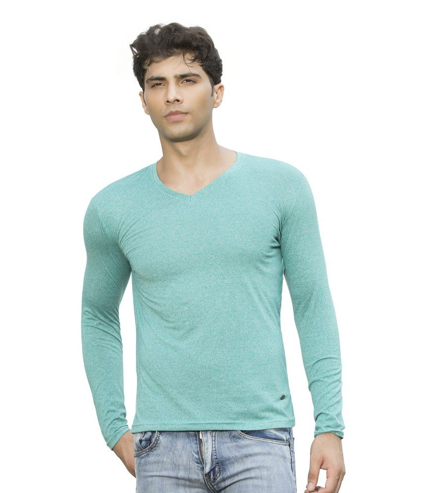 Maniac Green Cotton Blend T-Shirt