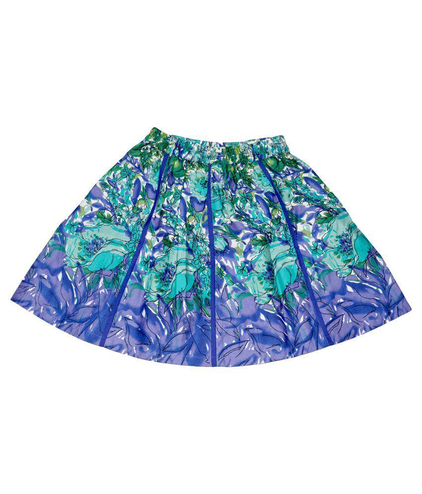 Young Birds Blue Cotton Skirt