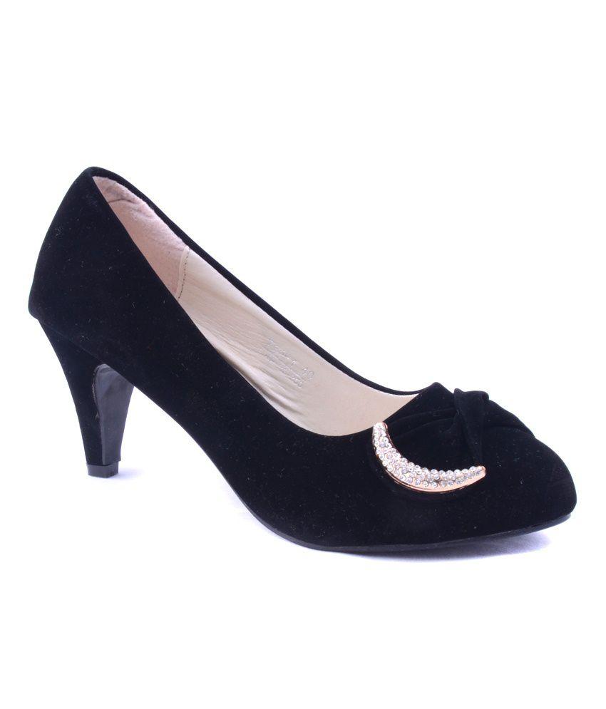 Zephyrnation Black & Beige Stiletto Heels