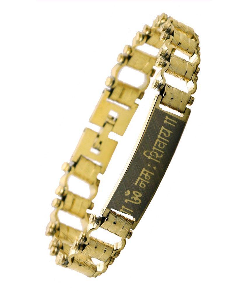 Asha Ambe Aalok Golden Plated Bracelet